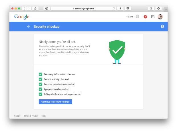 Google Security account