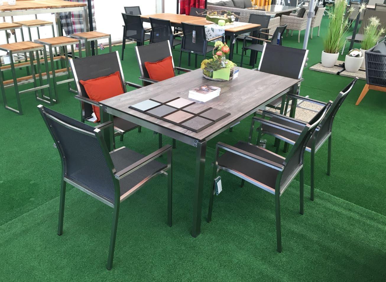 stern sessel cardiff gartenm bel edelstahl teak textil. Black Bedroom Furniture Sets. Home Design Ideas