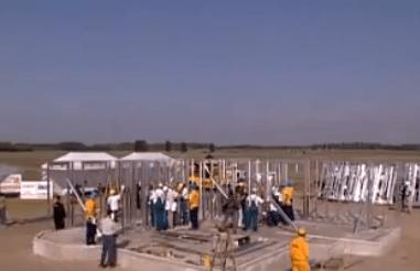 Photo of Acél készház szerkezetkész építés rekord 3 óra 20 perc alatt (Való Világ nyereményház)