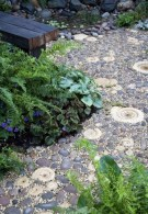 Decorative Pebble and Ammonite path