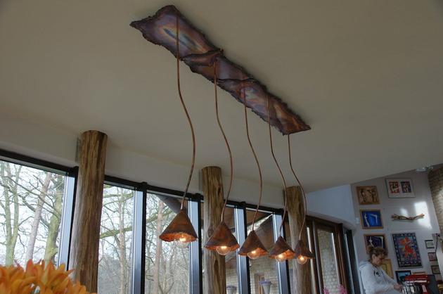 Rusztikus fa lámpa