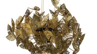 Photo of Arany pillangókból álló csillár
