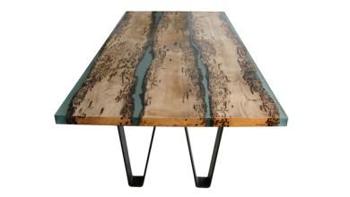 Photo of Történelem ihlette Chimenti asztal fából és gyantából