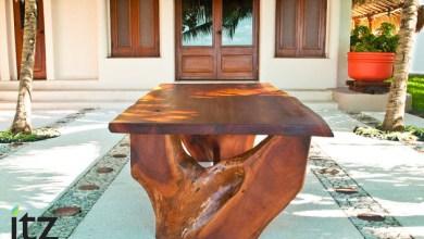Photo of Gyönyörű, újra hasznosított fa étkezőasztal