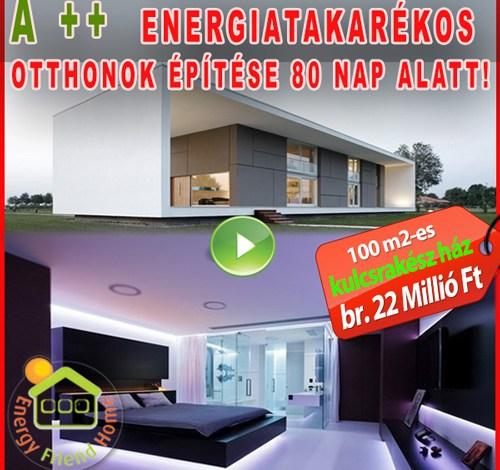 Photo of 100 m2-es kulcsrakész A++ kiemelten energiatakarékos családiház 33,5 millió forint