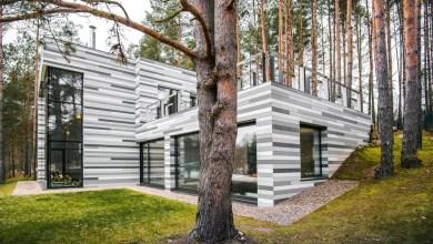 Photo of Modern folyóparti ház Litvániában