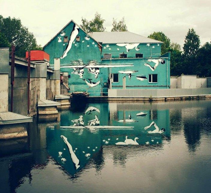 street-art-mural-reflected-water-1