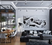 black-white-and-green-interior-design-600x519