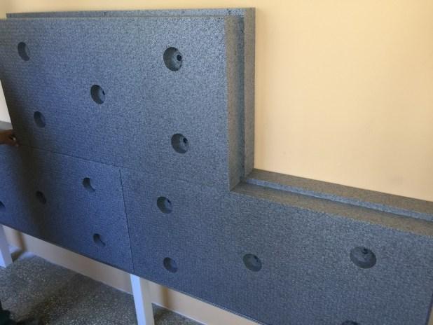 Lépcsős élkiképzésű grafitos polisztirol hőszigetelő táblák
