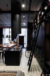 Apartment-UV-kitchen-island-and-ladder