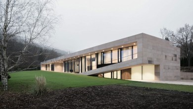 Photo of Modern kőburkolatú ház