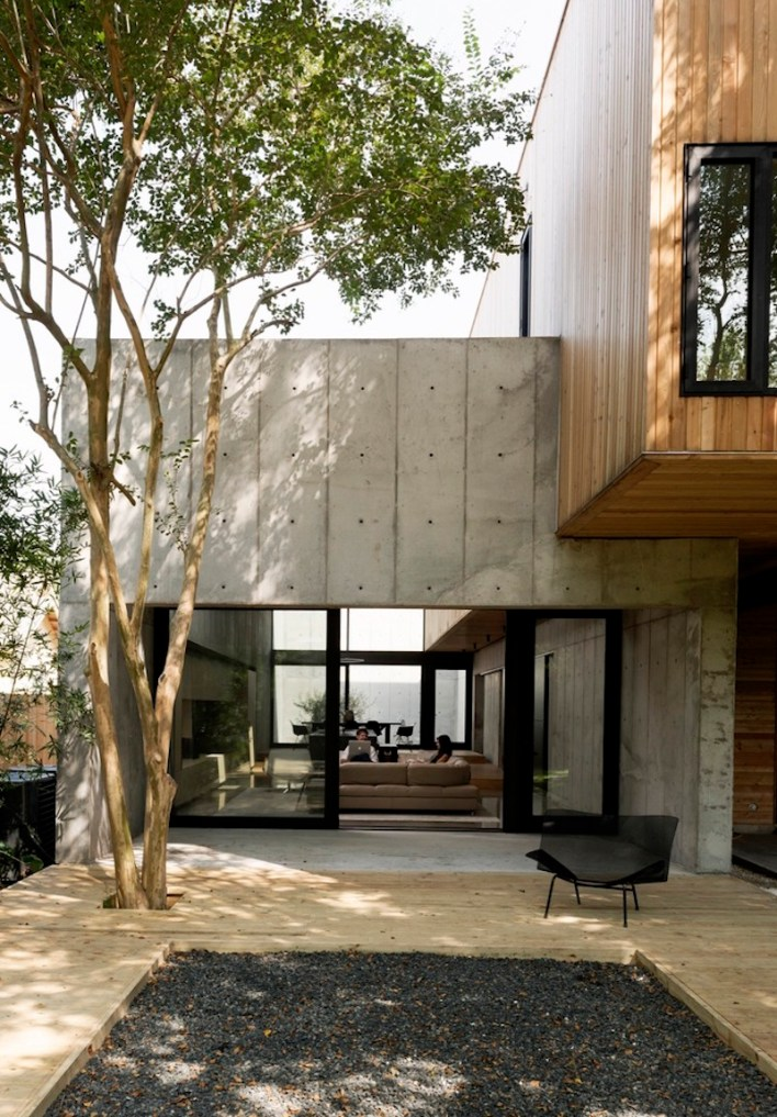 Concrete-Box-House-with-glass-walls-on-ground-floor