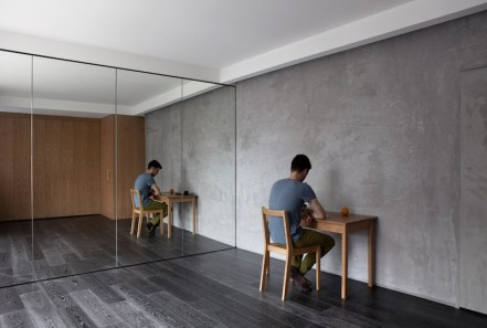 Urban-Hermitage-studio-with-harsh-concrete-wall-finishes
