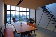 Small-house-in-Kyoto-has-a-live-edge-dining-table