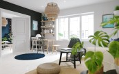 ikea-sinnerlig-light-navy-mat-contrasting-apartment