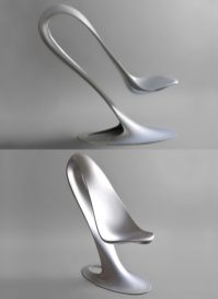 bending-spoon-shaped-silver-creative-chairs-600x823