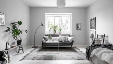 Photo of 32 nm lakás egy szobával északi stílusban