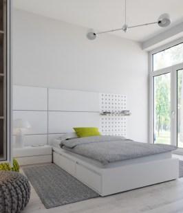 White-modern-bed