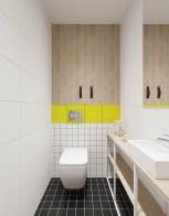 Yellow-white-small-minimalist-bathrooms