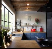 Blue-kitchen-clock