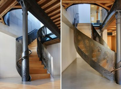 Perforated-spiral-staircase-design
