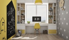 Yellow-kids-study-room