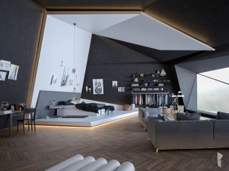 Modern-loft-bedroom