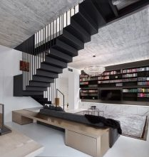 Old-town-aparment-interior-design-floating-stairs-966x1024