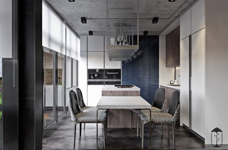 Blue-modern-dining-room