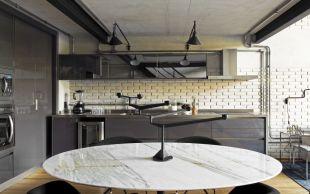 Brazil-Industrial-loft-by-Diego-Revollo-Arquitetura-Kitchen-decor