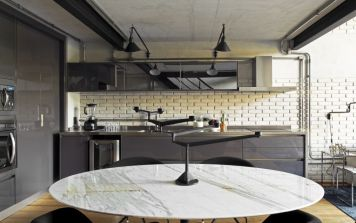 Brazil-Industrial-loft-by-Diego-Revollo-Arquitetura-Kitchen-decor