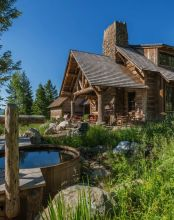 Rustic-mountain-residence-in-in-Teton-Valley-Wyoming-Water-Feature