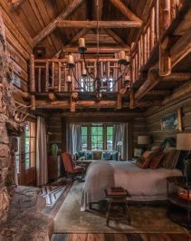 Rustic-mountain-residence-in-in-Teton-Valley-Wyoming-bedroom