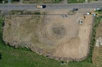 Géppel a gazt eltoltuk, majd 1000 tonna zázott követ bedolgoztunk a területbe