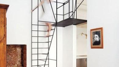 Photo of A minimalista fekete fém lépcsőház