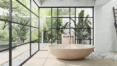 Photo of Inspiráció: érzéki fürdőszobák természetes elemekkel, és időtlen eleganciával
