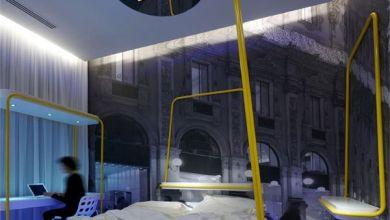 Photo of Drámai hálószobák a Simone Micheli által tervezett Milánói Town House Street Hotelben