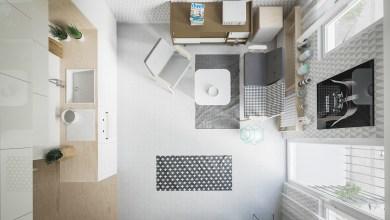 Photo of 20 négyzetméteres, teljes funkciójú, modern kis lakás