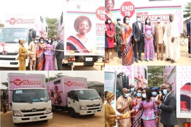 Lagos first Lady launches three Mobile chest X-RAY vans for TB Screening
