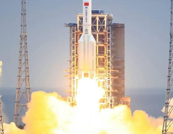 Remains Of Chinese Rocket Crash Into The Indian Ocean