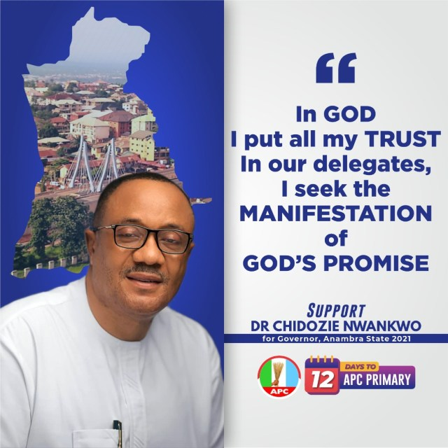 THE RIGHT MAN TO TRANSFORM ANAMBRA STATE.