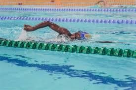 Nigerian Swimming Representative at the Olympics, Abiola Ogunbanwon Smashes Nigerian Women's 100m freestyle record
