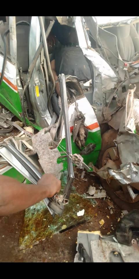 17 Persons Escape Death In Tragic Road  Crash.