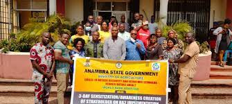 """ANCSDA Staff awarded """"Certificate of Appreciation"""" by Governor Willie Obiano, for their achievements in the State under the recently ended World Bank Assisted Community and Social Development Project-Additional."""