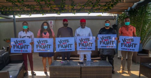 Valentine Ozigbo Lends Voice to 'Vote Not Fight' Campaign Ahead Of Nov. 6 Poll