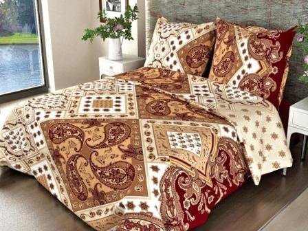 Ткань бязь для постельного белья 308-3 Восток шоколад