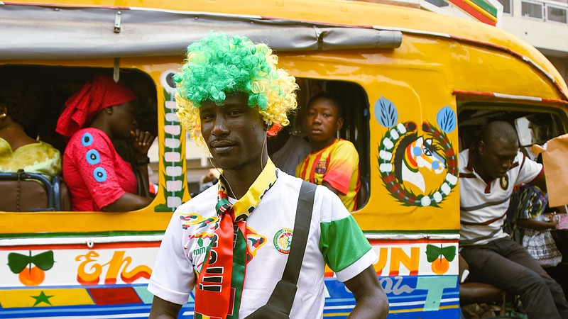 Image result for senegalese painting the streets football