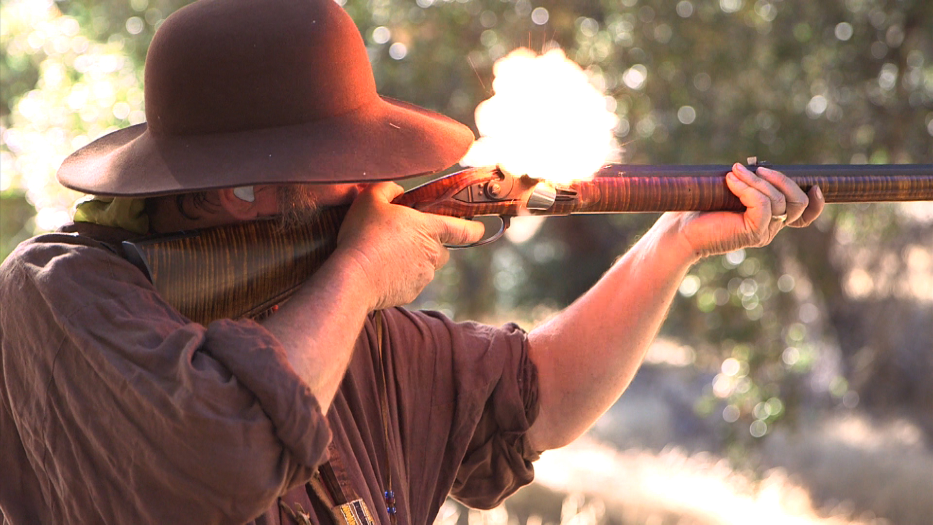 Mountain Men Recreate 1800s Fur Trading Camp North of