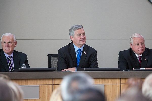 San Diego County Supervisors (left to right) Ron Roberts, Dave Roberts and Bill Horn at 2014 State of the County Address.