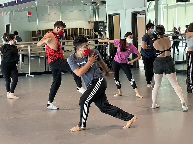 Dance students practice in Southwestern College's new performing arts center ...